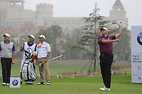 Graeme Storm (ENG) tees off the 6th tee during Saturay's Round 3 of the 2014 BMW Masters held at Lake Malaren, Shanghai, China. 1st November 2014.<br /> Picture: Eoin Clarke www.golffile.ie
