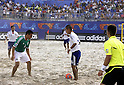 (R-L) Tomoya Uehara (JPN), Jose Luis Navarrete (MEX),SEPTEMBER 2, 2011 - Beach Soccer :FIFA Beach Soccer World Cup Ravenna/Italy 2011, Group D match between Japan 2-3 Mexico at Stadio del Mare in Marina di Ravenna, Ravenna, Italy. (Photo by Wataru Kobayakawa/AFLO)