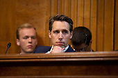 United States Senator Josh Hawley (Republican of Missouri) listens during the Subcommittee on the Constitution on Capitol Hill in Washington D.C., U.S. on July 16, 2019.<br /> <br /> Credit: Stefani Reynolds / CNP