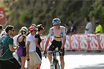 Tao Geoghegan Hart (GBR) Team Sky on the slopes of Sierra de la Alfaguara  during Stage 4 of the La Vuelta 2018, running 162km from Velez-Malaga to Alfacar, Sierra de la Alfaguara, Andalucia, Spain. 28th August 2018.<br /> Picture: Eoin Clarke   Cyclefile<br /> <br /> <br /> All photos usage must carry mandatory copyright credit (&copy; Cyclefile   Eoin Clarke)
