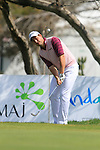 David Howell (ENG) chips onto the 18th green during Day 3 Saturday of the Open de Andalucia de Golf at Parador Golf Club Malaga 26th March 2011. (Photo Eoin Clarke/Golffile 2011)
