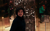 Former United States Secretary of Labor Elaine Chao arrives for a meeting with US President-elect Donald Trump, in the Trump Tower, November 21, 2016, in New York, New York.<br /> Credit: Aude Guerrucci / Pool via CNP