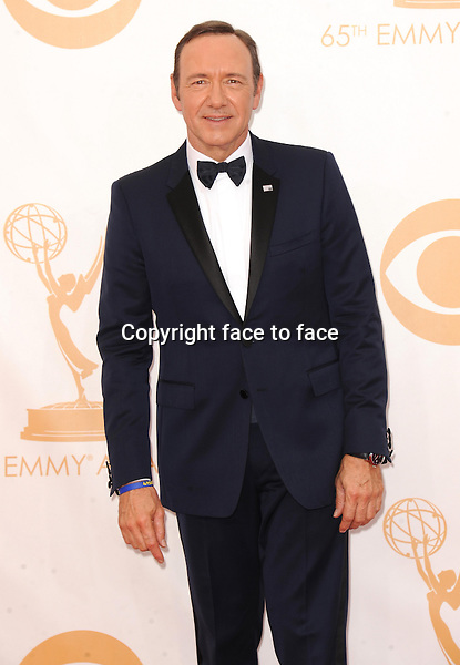 Kevin Spacey arrives at the 65th Primetime Emmy Awards at Nokia Theatre on Sunday Sept. 22, 2013, in Los Angeles.<br /> Credit: MediaPunch/face to face<br /> - Germany, Austria, Switzerland, Eastern Europe, Australia, UK, USA, Taiwan, Singapore, China, Malaysia, Thailand, Sweden, Estonia, Latvia and Lithuania rights only -