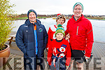 Richard Sharp, Carl and Marta Kowalcyk and Tom Quilter at the Fiona Moore Memorial 5k Fun Run in the Tralee Bay Wetlands on Sunday morning.
