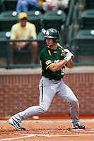 Baylor Bears outfielder Logan Vick #19 at bat during the NCAA Regional baseball game against Oral Roberts University on June 3, 2012 at Baylor Ball Park in Waco, Texas. Baylor defeated Oral Roberts 5-2. (Andrew Woolley/Four Seam Images)