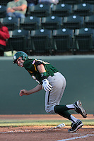 Jake Miller #20 of the Baylor Bears bats against the UCLA Bruins at Jackie Robinson Stadium on February 25, 2012 in Los Angeles,California. UCLA defeated Baylor 9-3.(Larry Goren/Four Seam Images)