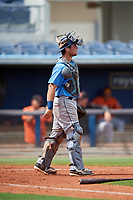 Tampa Bay Rays catcher Erik Ostberg (41) during a Florida Instructional League game against the Baltimore Orioles on October 1, 2018 at the Charlotte Sports Park in Port Charlotte, Florida.  (Mike Janes/Four Seam Images)