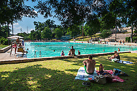 Deep Eddy Swimming Pool - The oldest swimming pool in Texas - Stock Photo Image Gallery
