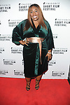 Chizzy Akudolu, Arrivals on the red carpet for the Triforce Short Film Festival   at BAFTA Piccadilly London