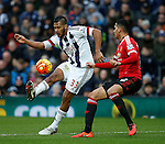 Jose Salomon Rondon of West Bromwich Albion tussles with Chris Smalling of Manchester United - English Premier League - West Bromwich Albion vs Manchester Utd - The Hawthorns Stadium - West Bromwich - England - 6th March 2016 - Picture Simon Bellis/Sportimage