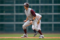 Brodie Greene #4 of the Texas A&M Aggies takes his lead off of second base versus the UC-Irvine Anteaters in the 2009 Houston College Classic at Minute Maid Park February 27, 2009 in Houston, TX.  The Aggies defeated the Anteaters 9-2. (Photo by Brian Westerholt / Four Seam Images)