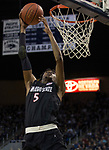 San Diego State forward Jalen McDaniels (5) attempts to dunk the ball against Nevada in the second half of an NCAA college basketball game in Reno, Nev., Saturday, March 9, 2019. (AP Photo/Tom R. Smedes)