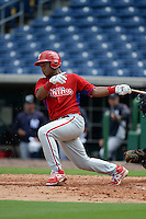 Philadelphia Phillies first baseman Luis Encarnacion (22) during an Instructional League game against the New York Yankees on September 23, 2014 at the Bright House Field in Clearwater, Florida.  (Mike Janes/Four Seam Images)