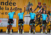 La Roche-sur-Yon place, France - July 5 : FUGLSANG Jakob (DEN) of Astana Pro Team  during the official team presentation prior the 105th edition of the 2018 Tour de France cycling race on July 5, 2018 in La Roche-sur-Yon place, France, 5/07/2018  <br /> Ciclismo Tour De France 2018 <br /> Foto Photonews / Panoramic / Insidefoto <br /> ITALY ONLY