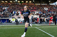 Chris Cook of Bath Rugby runs out onto the field on the occasion of his 100th appearance for the club. European Rugby Champions Cup match, between RC Toulon and Bath Rugby on December 9, 2017 at the Stade Mayol in Toulon, France. Photo by: Patrick Khachfe / Onside Images