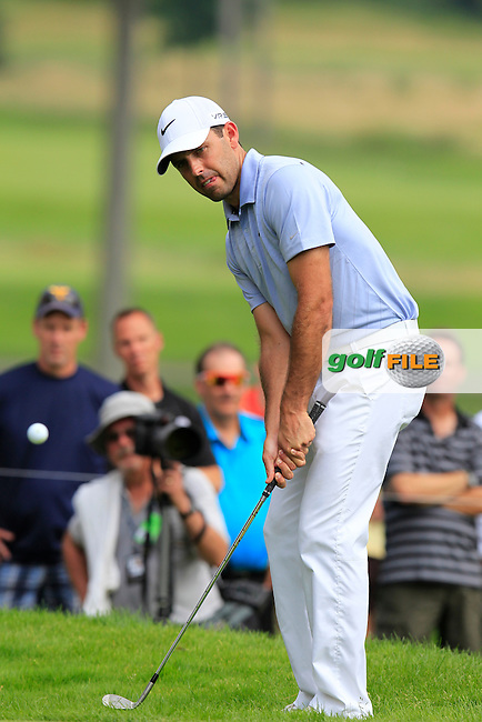 Charl SCHWARTZEL (RSA) chips onto the 8th green during Friday's Round 2 of the WGC Bridgestone Invitational, held at the Firestone Country Club, Akron, Ohio.: Picture Eoin Clarke, www.golffile.ie: 1st August 2014