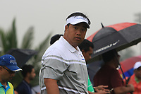 Kiradech Aphibarnrat (Asia) on the 3rd during the Saturday Foursomes of the Eurasia Cup at Glenmarie Golf and Country Club on the 13th January 2018.<br /> Picture:  Thos Caffrey / www.golffile.ie