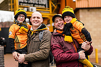7th March 2020; Molineux Stadium, Wolverhampton, West Midlands, England; English Premier League, Wolverhampton Wanderers versus Brighton and Hove Albion; Wolves fans arriving before the game