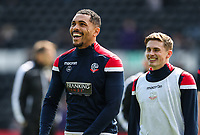 Bolton Wanderers' Josh Magennis and Joe Pritchard pictured before the match<br /> <br /> Photographer Andrew Kearns/CameraSport<br /> <br /> The EFL Sky Bet Championship - Derby County v Bolton Wanderers - Saturday 13th April 2019 - Pride Park - Derby<br /> <br /> World Copyright &copy; 2019 CameraSport. All rights reserved. 43 Linden Ave. Countesthorpe. Leicester. England. LE8 5PG - Tel: +44 (0) 116 277 4147 - admin@camerasport.com - www.camerasport.com