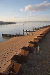 River Deben estuary at its mouth, Bawdsey Quay, Suffolk, England