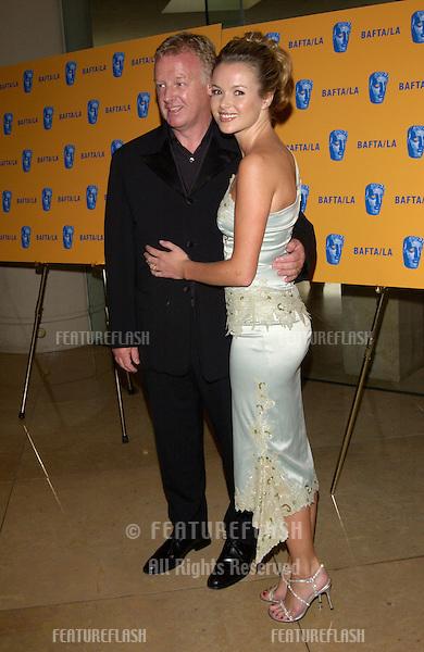 Actress AMANDA HOLDEN & husband comedian LES DENNIS at the 11th Annual BAFTA/LA Britannia Awards at the Beverly Hills Hilton..12APR2002.  © Paul Smith / Featureflash