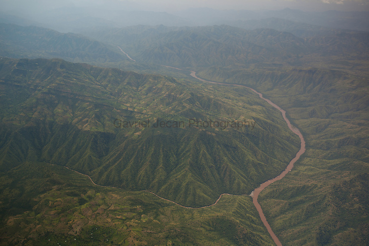 Aerials over the Omo River in central south Ethiopia