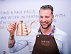 The London Coffee Festival <br /> Truman Brewery, Brick Lane, London, Great Britain <br /> 6th April 2017 <br /> <br /> General atmosphere on the opening day of the London Coffee Festival <br /> <br /> Union Coffee barista <br /> <br /> Photograph by Elliott Franks <br /> Image licensed to Elliott Franks Photography Services