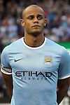 23 May 2013:  Vincent Kompany (4)(BEL) of Manchester City.  Chelsea F.C. was defeated by Manchester City 3-4 at Busch Stadium in Saint Louis, Missouri, in a friendly exhibition soccer match.