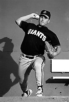 Mike Villano of the San Jose Giants during a 1995 season game at Fiscalini Field in San Bernardino,California.(Larry Goren/Four Seam Images)