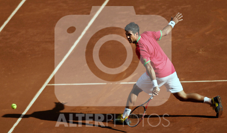 Fernando Verdasco during Madrid Open Tennis tournament Match. May 03, 2011. (ALTERPHOTOS/Alvaro Hernandez)