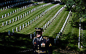 A honor guard stands still as the motorcade carrying United States President Barack Obama arrives at the Tomb of the Unknown Soldier at Arlington National Cemetery, May 25, 2015 in Arlington, Virginia. <br /> Credit: Olivier Douliery / Pool via CNP