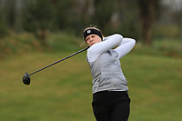 Matilda Cederholm (SWE) on the 1st tee during Round 1 of the Irish Girls U18 Open Stroke Play Championship at Roganstown Golf &amp; Country Club, Dublin, Ireland. 05/04/19 <br /> Picture:  Thos Caffrey / www.golffile.ie