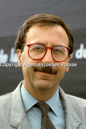 Montreal (QC) CANADA - undated File Photo -Andre Boulerice, Parti Quebecois MNA for Sainte-Marie-Saint-Jacques in Montreal.<br /> <br /> <br /> AndrÈ Boulerice (born May 8, 1946 in Joliette, Quebec) is a QuÈbÈcois politician and gay rights activist. He was a member of the National Assembly of Quebec for the riding of Sainte-MarieóSaint-Jacques in Montreal.<br /> <br /> Born in Joliette, he graduated in specialized education from CÈgep du Vieux MontrÈal. He joined the Parti QuÈbÈcois in 1970 and later worked for the Chambly school board.<br /> <br /> He was elected in the Sainte-MarieóSaint-Jacques riding in 1989, formerly under Claude Charron. Boulerice was reelected in 1994, 1998 and 2003. He was also the assistant leader in the government, president of the Quebec division of the AssemblÈe parlementaire de la Francophonie and Quebec immigration minister. He helped introduce civil union for same-sex couples. Boulerice resigned in September 2005.