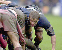 31/01/2004 Parker Pen Challenge Trophy.Bath Rugby v Beziers.Andy Beattie, packs down....   [Mandatory Credit, Peter Spurier/ Intersport Images].
