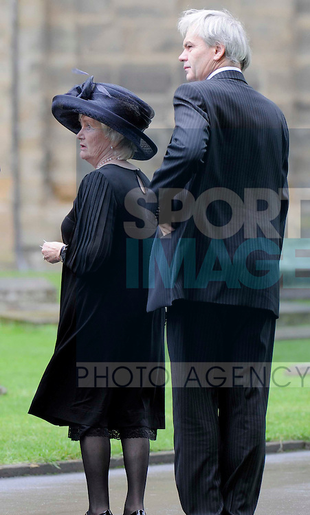 Lady Elsie Robson and her son Andrew at the Sir Bobby Robson memorial at Durham Cathedral.