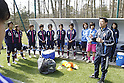 Hiroshi Yoshida & Japan team group (JPN), APRIL 3, 2012 - Football / Soccer : Women's International Friendly match between France B and U-20 Japan in Clairefontaine, France. (Photo by AFLO SPORT)