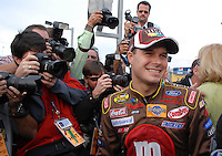 Feb 11, 2007; Daytona, FL, USA; Nascar Nextel Cup driver David Gilliland (38) after winning the pole for the Daytona 500 at Daytona International Speedway. Mandatory Credit: Mark J. Rebilas