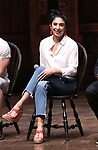 "Lauren Boyd during a Q & A before The Rockefeller Foundation and The Gilder Lehrman Institute of American History sponsored High School student #eduHam matinee performance of ""Hamilton"" at the Richard Rodgers Theatre on May 9, 2018 in New York City."
