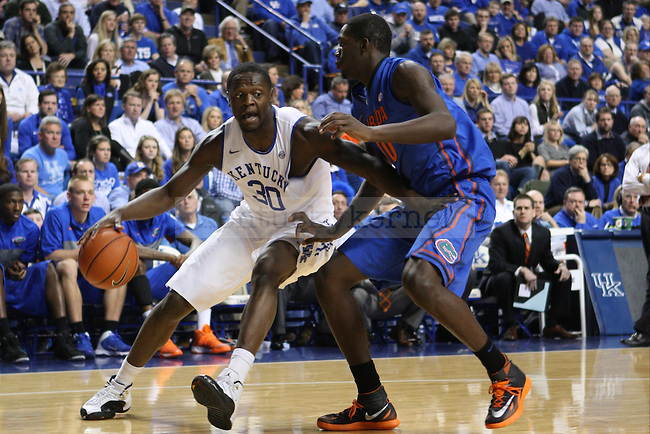 UK forward Julius Randle drives the ball to the basket during the first half of the UK vs. Florida men's basketball game at Rupp Arena in Lexington, Ky., on Saturday, February, 15, 2014. Photo by Jonathan Krueger | Staff