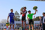 Greg Van Avermaet (BEL) BMC Racing wins with Zdenek Stybar (CZE) Quick-Step Floors in 2nd place and Sebastian Langeveld (NED) Cannondale-Drapac in 3rd place after the 115th edition of the Paris-Roubaix 2017 race running 257km from Compiegne to Roubaix, France. 9th April 2017.<br /> Picture: Eoin Clarke | Cyclefile<br /> <br /> <br /> All photos usage must carry mandatory copyright credit (&copy; Cyclefile | Eoin Clarke)