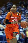 18 January 2015: Miami's Suriya McGuire. The Duke University Blue Devils hosted the University of Miami Hurricanes at Cameron Indoor Stadium in Durham, North Carolina in a 2014-15 NCAA Division I Women's Basketball game. Duke won the game 68-53.