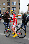 Egoitz Garcia Echeguibel (Cofidis) signs an autograph before the start of the 56th edition of the E3 Harelbeke, Belgium, 22nd  March 2013 (Photo by Eoin Clarke 2013)