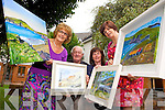 COLOURFUL AND CREATIVE:  Deirdre Lynch, Seamus O'Donnell, Josephine Raftery and Veronica Houlihan are preparing for the sixth annual art exhibition in Halla le Ceile, Brandon on Saturday evening at 8pm.