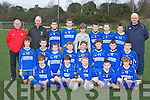 The Castleisland team that played Killorglin in the under 13 Kerry schoolboy league in Killorglin on Saturday was front row l-r: Padraig O'Connell, David Riordain, Tommy Regan, Padraig O'Connor, Kevin Mahony. Middle row: Shay Walsh, Josh Horan, Ben Cooney, Donnacha Daly, Padraic O'Connor, Paul Walsh, DJ Fealey, Edward Horan. Back row: Georgie O'Callaghan, Sean Gallagher, Cathal O'Donoghue, Patrick Horan, Dylan Browne, Sean Horan, Jason Browne, Mark O'Donoghue and John Mitchell....