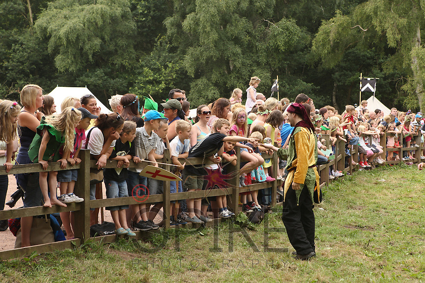 Action from the Robin Hood Festival whcih takes place in August at Sherwood Forest Visitor Centre, Edwinstowe, Nottinghamshire