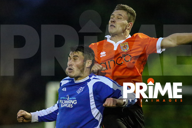 Match action from Ampthill Town v Flitwick Town in the Beds Senior Trophy Quarter Final at Ampthill Stadium, Bedfordshire, England on 12 December 2015. Photo by David Horn/PRiME Media Images