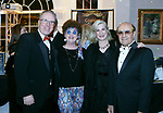 """020318MK03 (from left) Joe and Paula Connelly with Aziz and Richi Maysoun recently gathered at the Saint Mary's Hospital Foundation held its 27th Annual Gala, """"A Night at Studio 54,"""" at the Aqua Turf Club in Plantsville. Michael Kabelka Republican - American."""