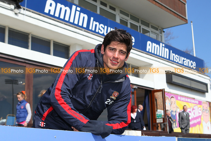 Alastair Cook of Essex and England poses for a portrait in front of the pavilion - Essex County Cricket Club Press Day at the Essex County Ground, Chelmsford, Essex - 02/04/13 - MANDATORY CREDIT: Gavin Ellis/TGSPHOTO - Self billing applies where appropriate - 0845 094 6026 - contact@tgsphoto.co.uk - NO UNPAID USE.