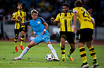 Manchester City striker Alex Zinchenko (l) fights for the ball with Borussia Dortmund midfielder Nuri Sahin (r) during the match between Manchester City FC during their 2016 International Champions Cup China match at the Shenzhen Stadium on 28 July 2016 in Shenzhen, China. Photo by Marcio Machado / Power Sport Images
