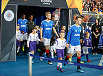 19.09.2019 Rangers v Feyenoord: Rangers players and mascots